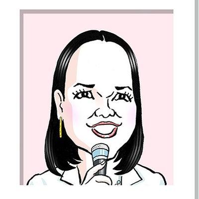 五輪真弓さんの似顔絵の記事に添付されている画像