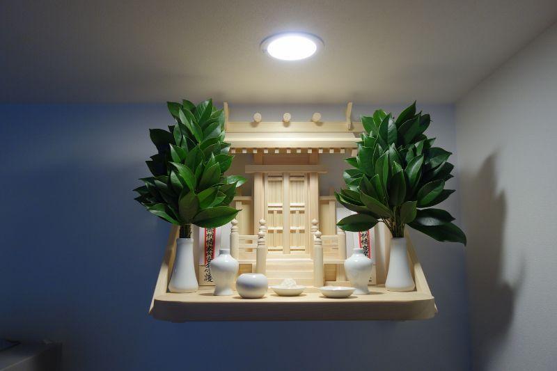 中神明神棚+国産檜製の棚板
