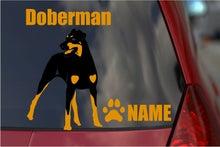 ドーベルマンのステッカー