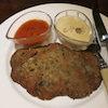 神戸三宮のアスパラガスで仔牛のカツレツに牡蠣にパテにウニとワサビのパスタの画像