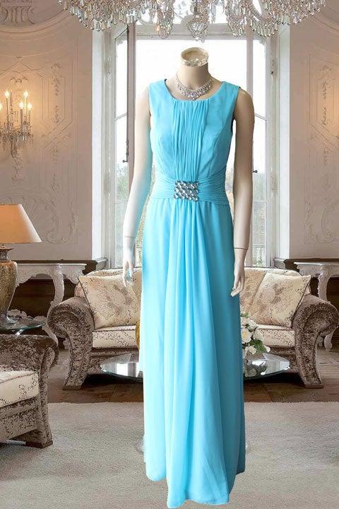 7d4d977e53e7d エメグリーン肩ありデザインのタック使いシンプルステージドレス ...