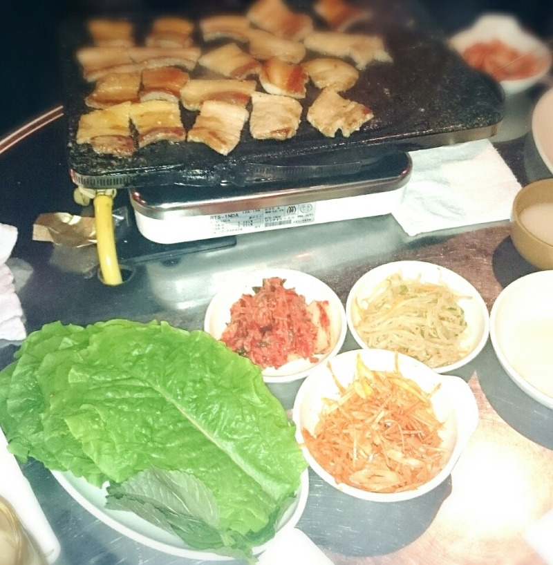 願がけ ヘナタトゥーハート&翼 柏 サムギョプサル とん八 美味しくて安い!韓国料理店の記事より