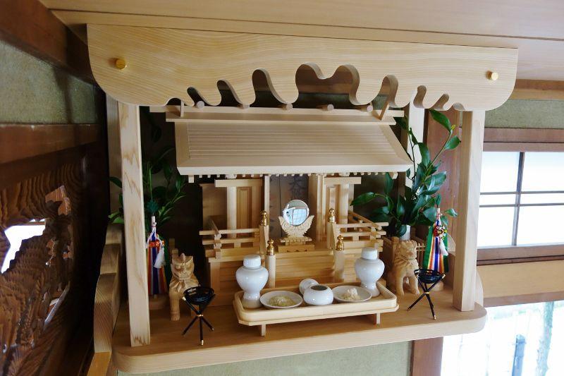 天神唐戸一社+神具フルセット(狛犬付き)
