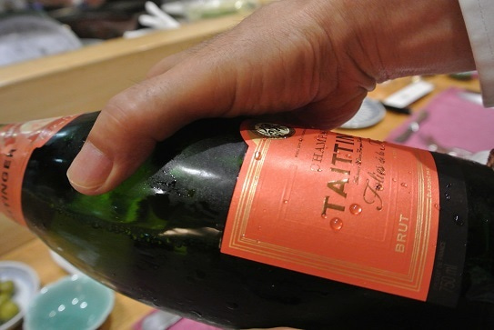 日本橋 西洋料理 島 シャンパン