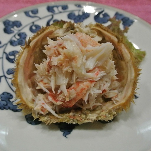 日本橋 西洋料理 島 毛蟹剥き身