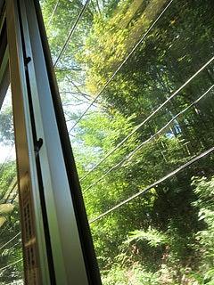 箱根登山鉄道の車内