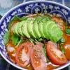 冷たいトマトのラーメンをアレンジの画像