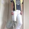 ドゥーズエムぶるちゃんTシャツ&AGホワイトデニム★健康第一と心から思った日♪の画像
