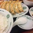 日高屋でW餃子定食