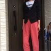 リネンワイドパンツ&ロゴTシャツw/無印パーカ★ちびも喜怒哀楽に母さんヘトヘトです(-_-;)の画像