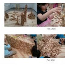親子で積み木で遊ぼう…