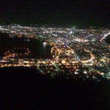 函館山にて。雨上がり…