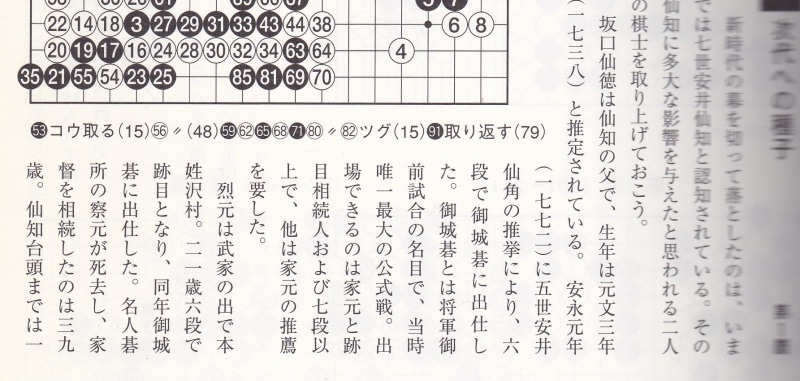 先番 坂口仙徳 VS 本因坊烈元(1...