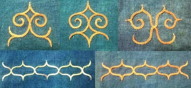 アイヌ 刺繍 図案 【白老のアイヌ文様刺繍体験】フッチコラチ