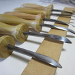 白樺細工のオール制作…
