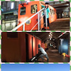 青函トンネル記念館のケーブルカー、蟹田、はまなすの画像