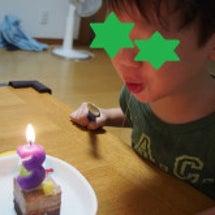 ささやかな3歳のお誕…