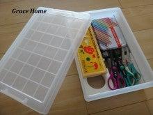 「無印良品スチール工具箱 2」がコンパクトな裁縫箱に変身!