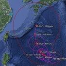 台風21号、今後の進路予測の記事より
