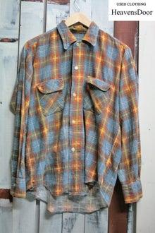 プリントネルシャツ 古着 60年代位