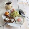 卵なし、コーンとベーコンの豆乳マフィンのモーニングプレート♪の画像