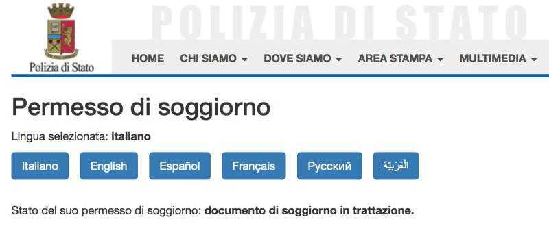 Emejing Documento Di Soggiorno In Trattazione Images - Idee ...