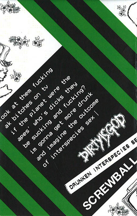 SCREWBALL/DIRTY IS GOD tape