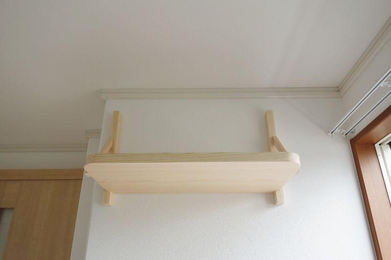国産ひのき板の無垢材で作る神棚板