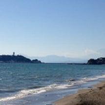 湘南の海を見ながら