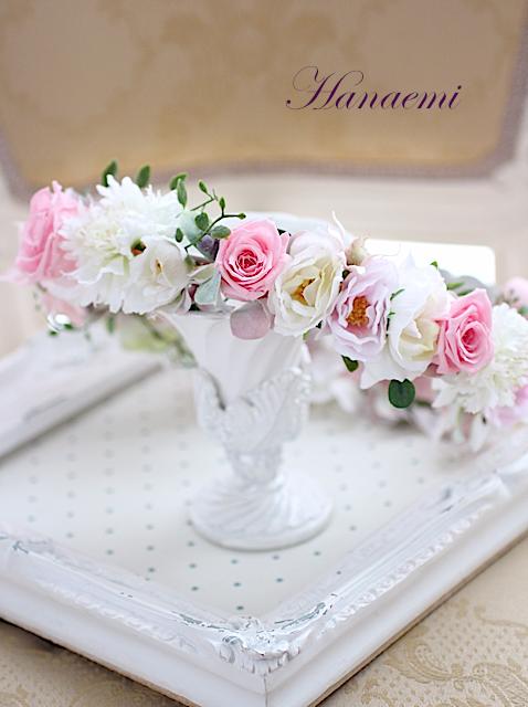 花笑みオリジナル花冠ピンク