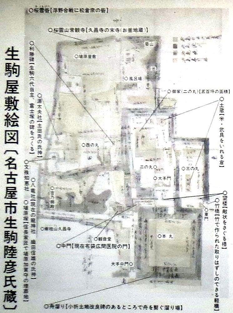 小折城/⑤縄張図