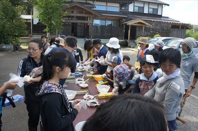 20151003稲刈りツアー⑪おにぎり作り