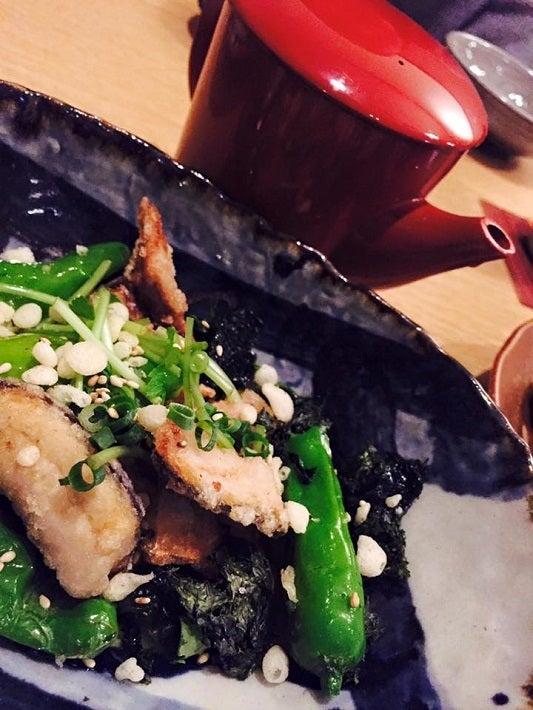 秋刀魚の香り揚げ あおさ海苔美味がけ