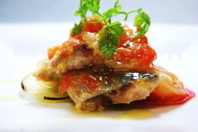真鯖の香味野菜マリネ