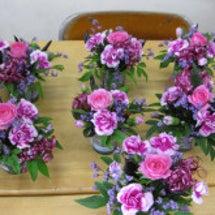 地域交流会のお花