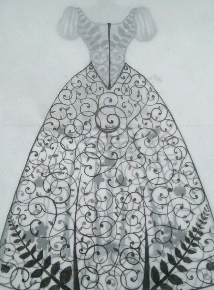 切り絵のドレス✨ディズニープリンセス 白雪姫