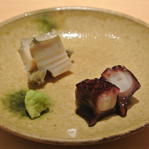 六本木 鮨さいとう 蛸とあわび