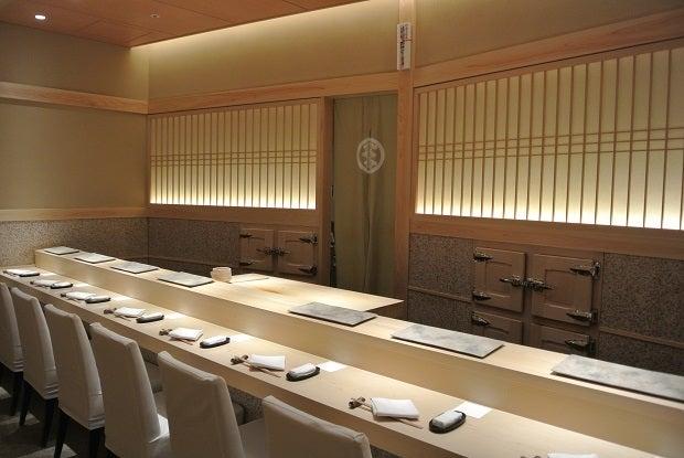六本木 鮨さいとう カウンター席