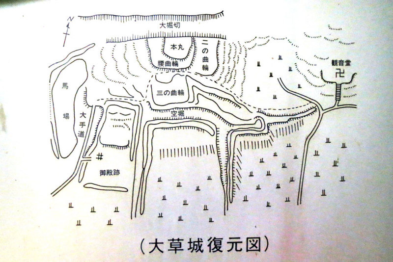 大草城(小牧)/③縄張図