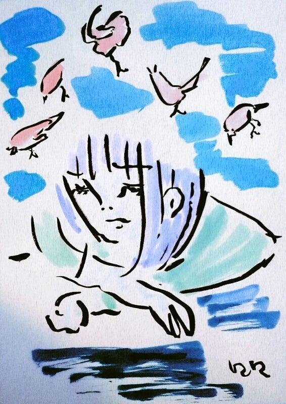 絵俳句】疲れきるまで描きし小鳥とスーパーマン/八木三日女 | いつ ...