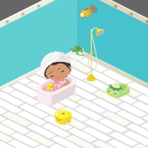 入浴タイムの画像