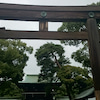 雨の明治神宮の画像