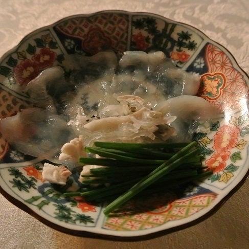 西麻布たかべ鮨 ふぐ薄造り