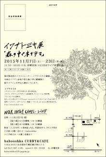 イワサトミキ展「森の中で木をみる」DM裏