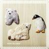 シロクマのアップリケ ペンギンのアップリケの画像