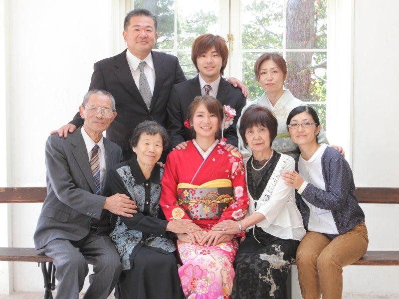 祖父母と着物で記念撮影会