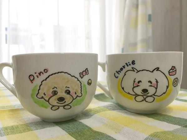 わんこ似顔絵コーヒーカップ