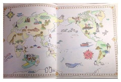 ディズニー世界はひとつ Misamisaのぬり絵ブログ彡コロ