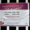 タヒチの旧札の交換 ECHANGE DE BILLETS EN F CFPの画像
