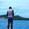 ボラボラ島で魚釣り Vaitapeで釣りの画像